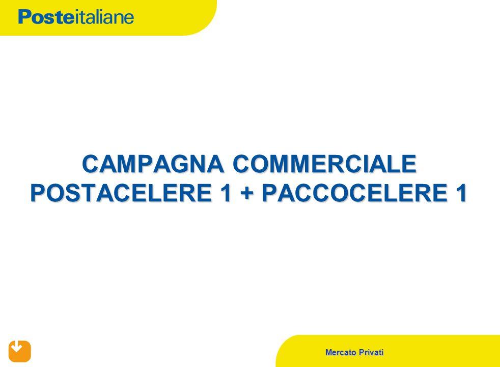 Mercato Privati CAMPAGNA COMMERCIALE POSTACELERE 1 + PACCOCELERE 1