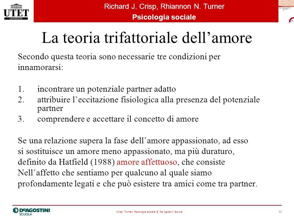 Crisp, Turner, Psicologia sociale © De Agostini Scuola 11 Richard J.