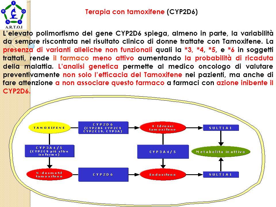 WWW.IMGEP.COM Terapia con tamoxifene (CYP2D6) Lelevato polimorfismo del gene CYP2D6 spiega, almeno in parte, la variabilità da sempre riscontrata nel