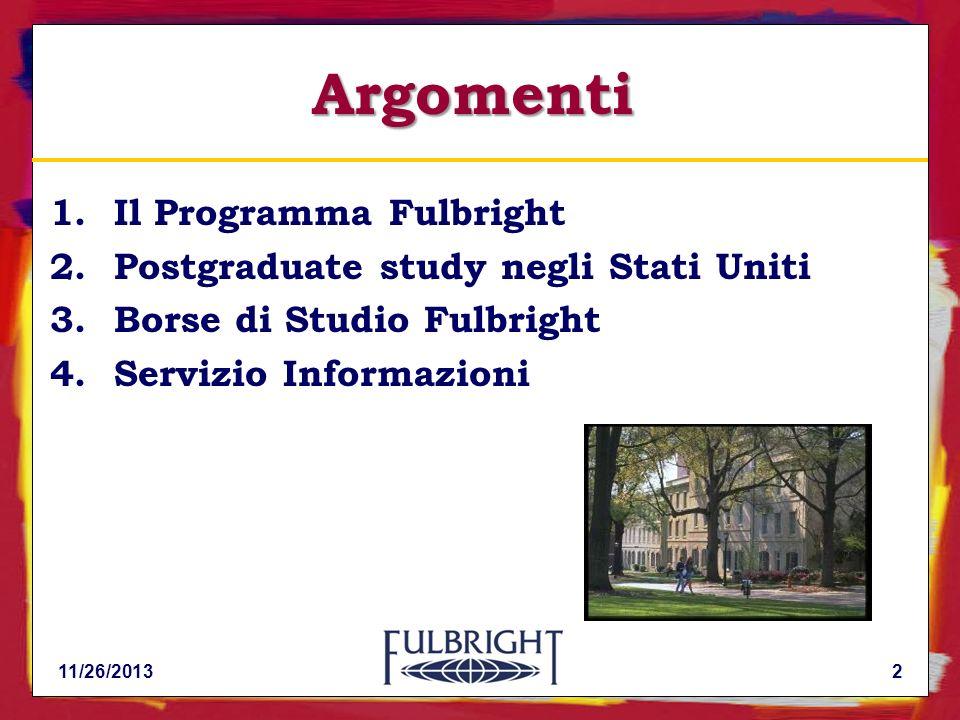 11/26/201323 Graduate studies: Master e Ph.D.