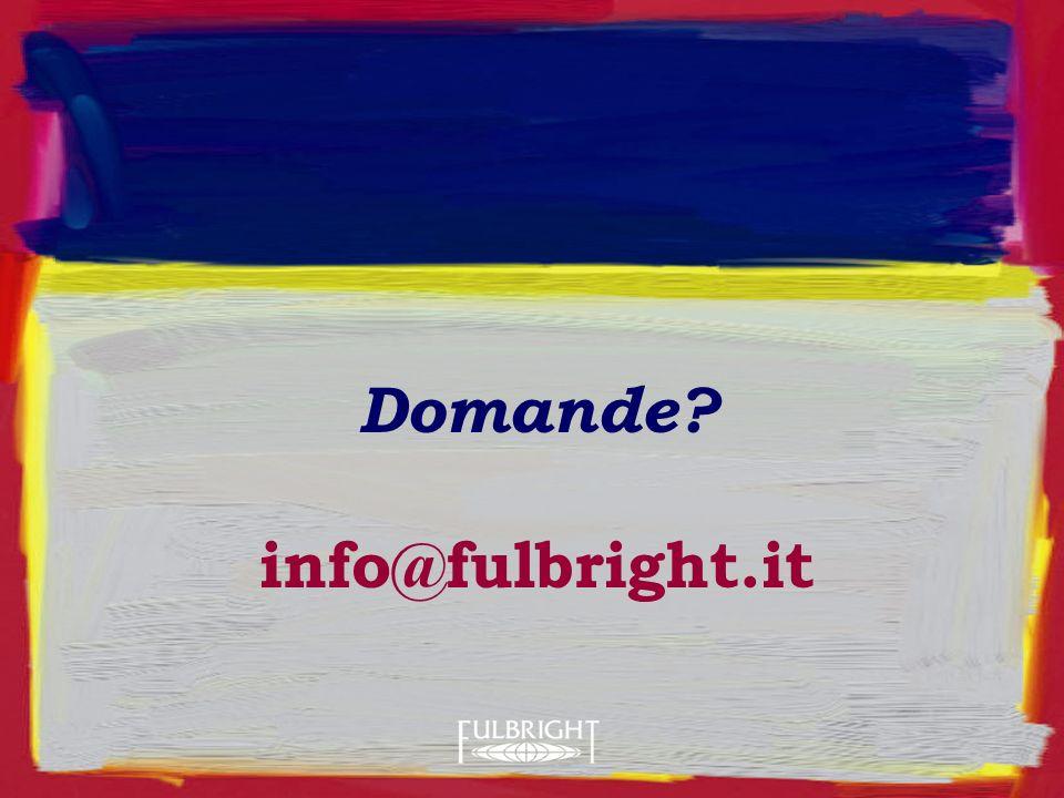 Domande? info@fulbright.it