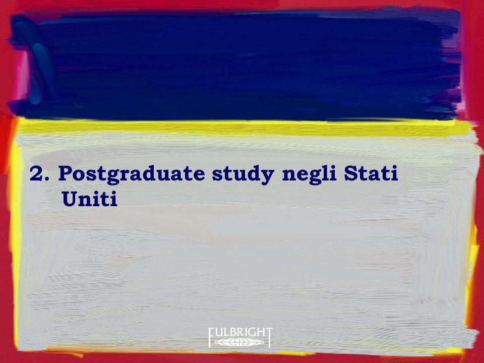 2. Postgraduate study negli Stati Uniti