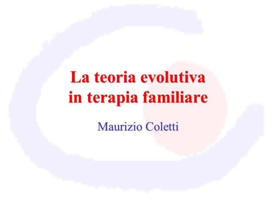 La teoria evolutiva in terapia familiare Maurizio Coletti