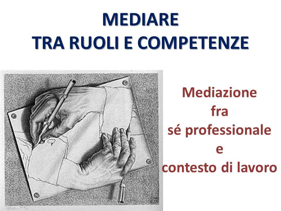MEDIARE TRA RUOLI E COMPETENZE Mediazione fra sé professionale e contesto di lavoro