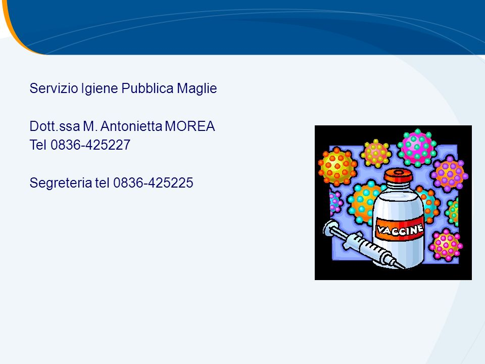 Servizio Igiene Pubblica Maglie Dott.ssa M.