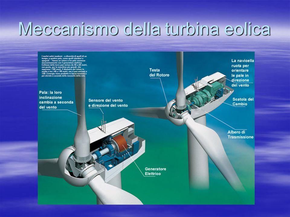 Meccanismo della turbina eolica
