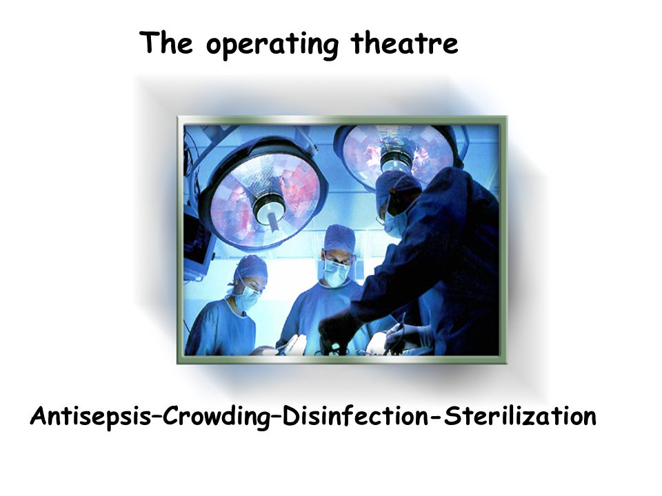 Antisepsis–Crowding–Disinfection-Sterilization The operating theatre