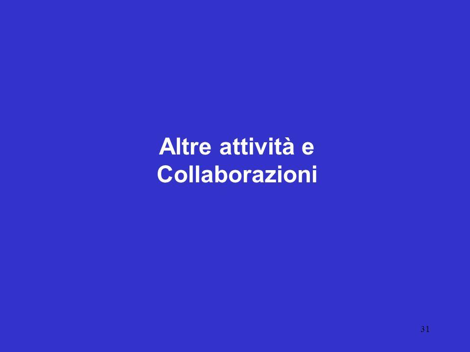 31 Altre attività e Collaborazioni