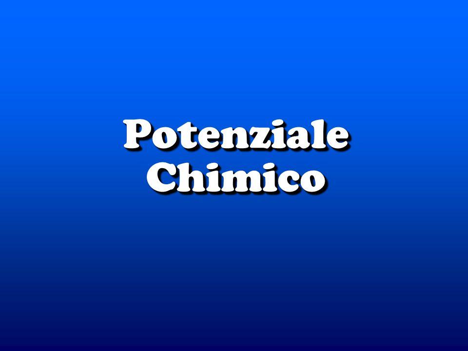 © Dario Bressanini3 Il potenziale chimico è Il potenziale chimico è Il Potenziale Chimico Per una sostanza pura Per una sostanza pura Per un gas ideale Per un gas ideale