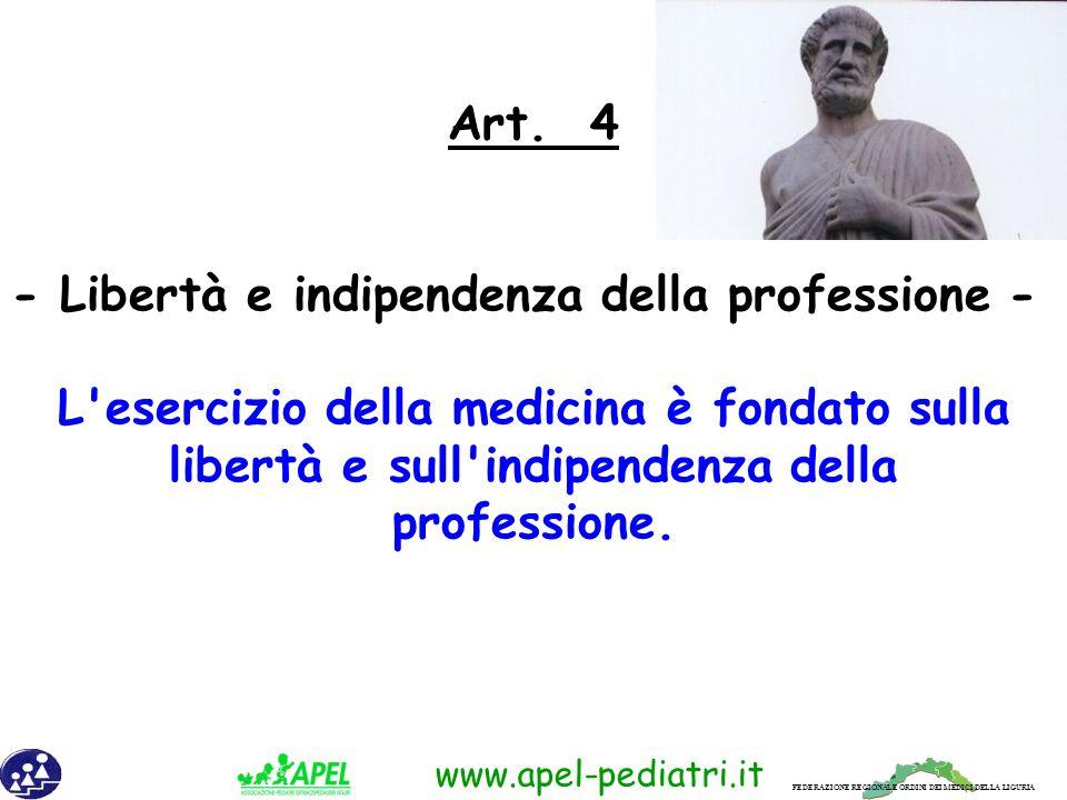 FEDERAZIONE REGIONALE ORDINI DEI MEDICI DELLA LIGURIA www.apel-pediatri.it 2.