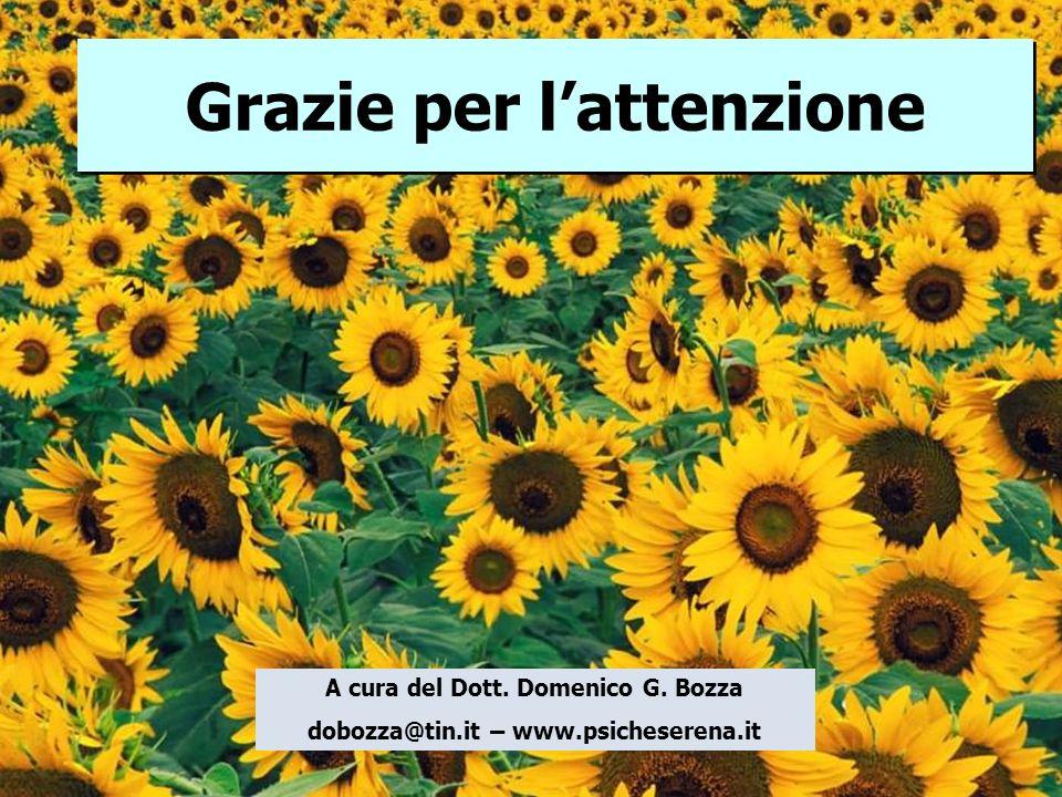 A cura del Dott. Domenico G. Bozza dobozza@tin.it – www.psicheserena.it Grazie per lattenzione Grazie per lattenzione