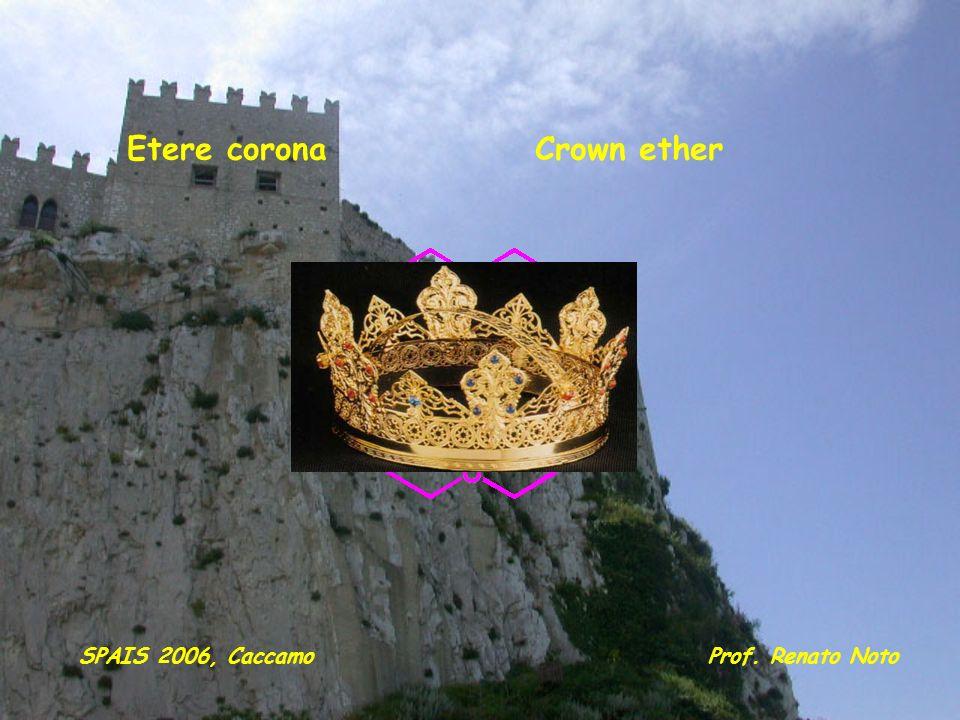 Etere coronaCrown ether Prof. Renato NotoSPAIS 2006, Caccamo