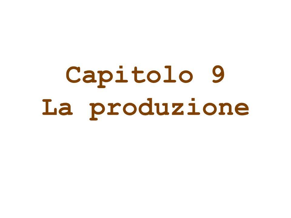 Capitolo 9 La produzione