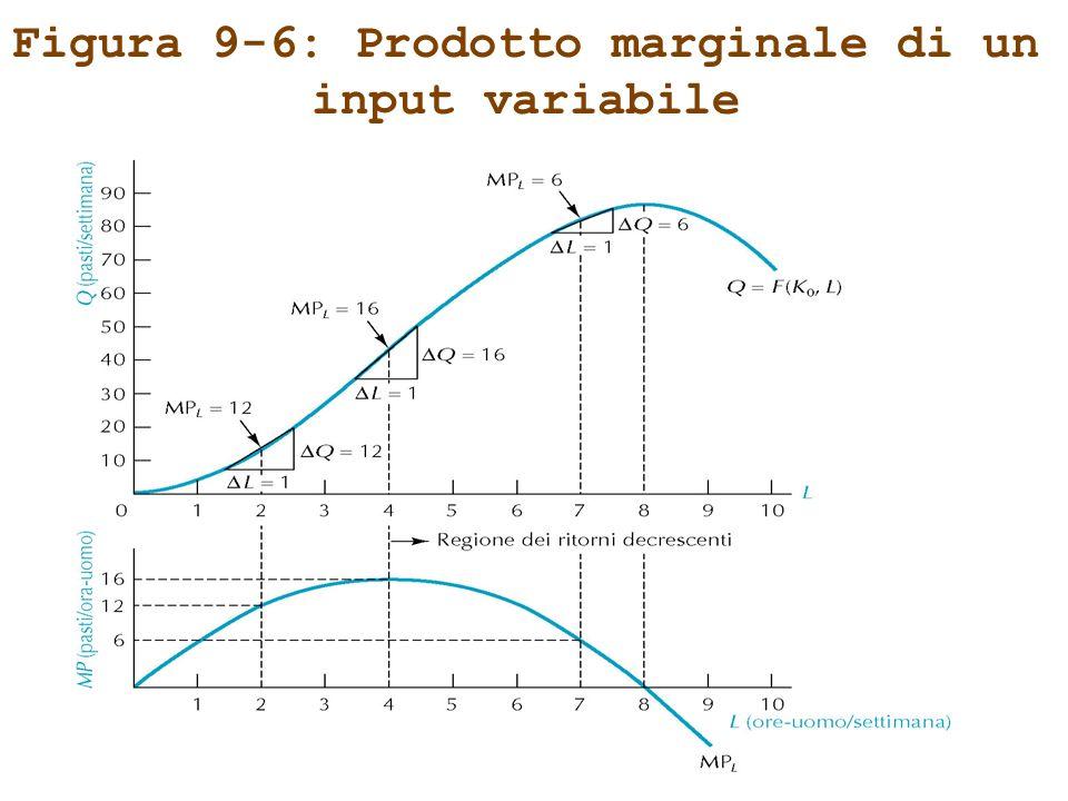 Figura 9-6: Prodotto marginale di un input variabile