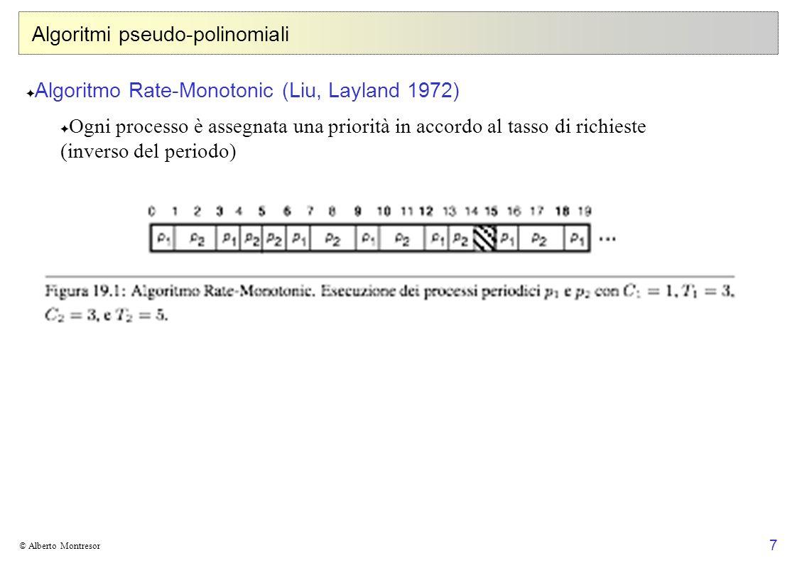 8 © Alberto Montresor Algoritmi pseudo-polinomiali Domanda Sotto quali condizioni un problema NP -completo può essere risolto con un algoritmo polinomiale per valori piccoli dei dati in ingresso.