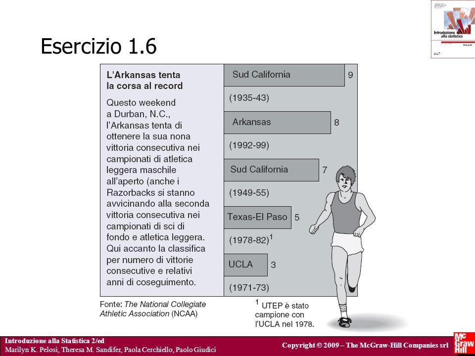 Introduzione alla Statistica 2/ed Marilyn K. Pelosi, Theresa M. Sandifer, Paola Cerchiello, Paolo Giudici Copyright © 2009 – The McGraw-Hill Companies