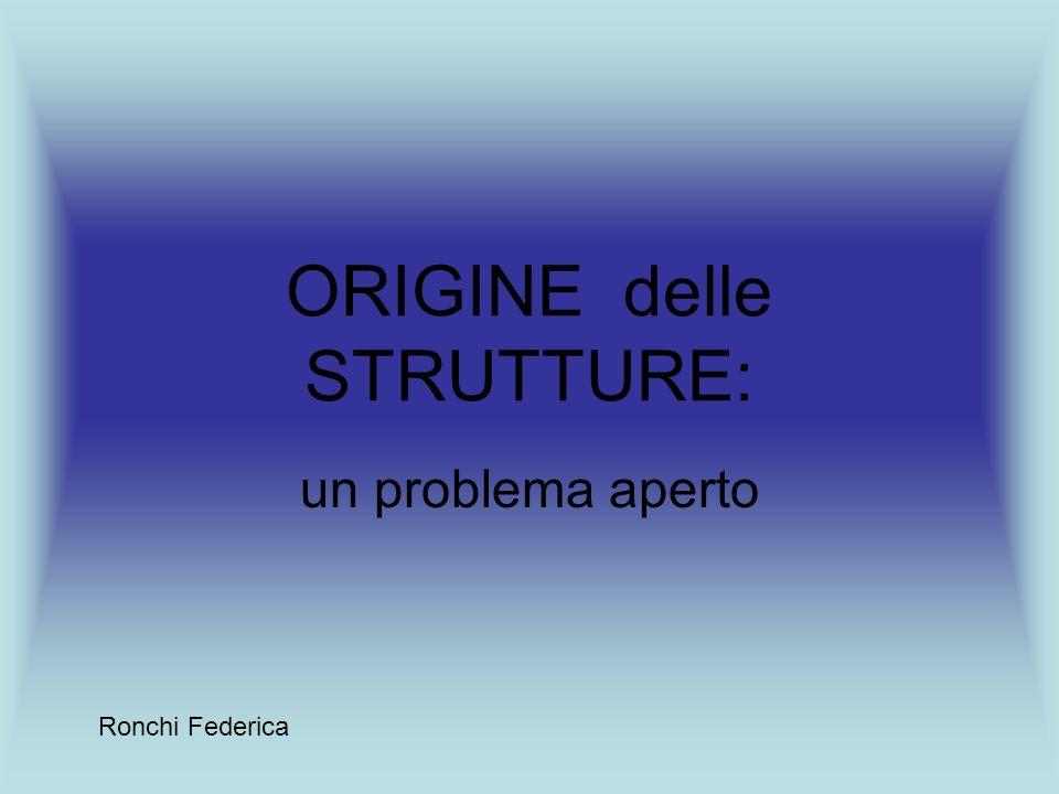 ORIGINE delle STRUTTURE: un problema aperto Ronchi Federica