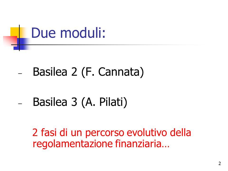 2 Basilea 2 (F.Cannata) Basilea 3 (A.