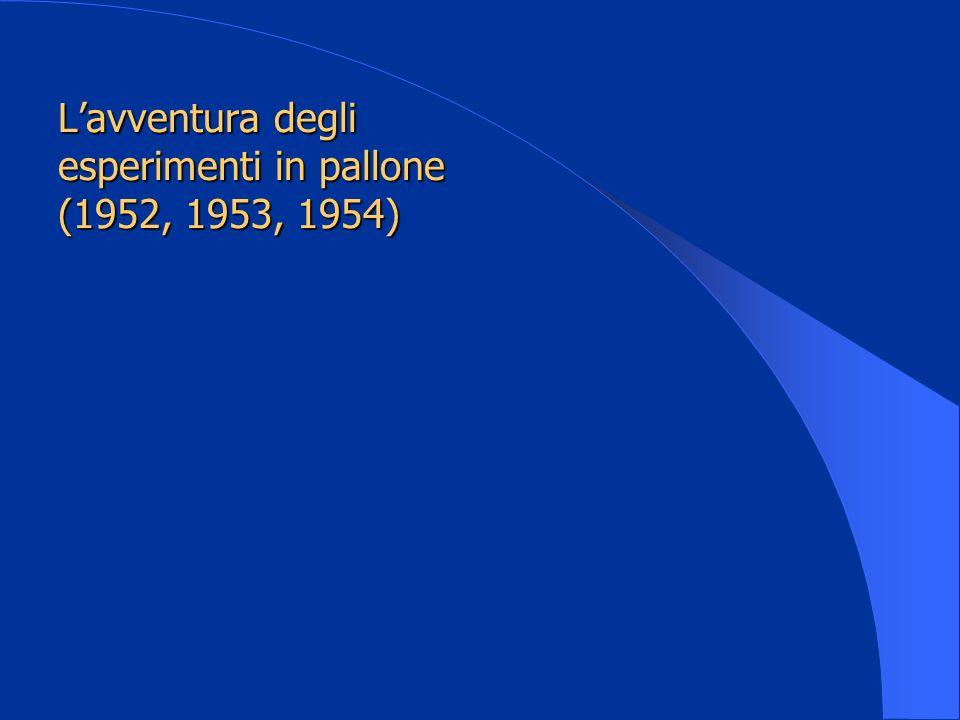 Lavventura degli esperimenti in pallone (1952, 1953, 1954)