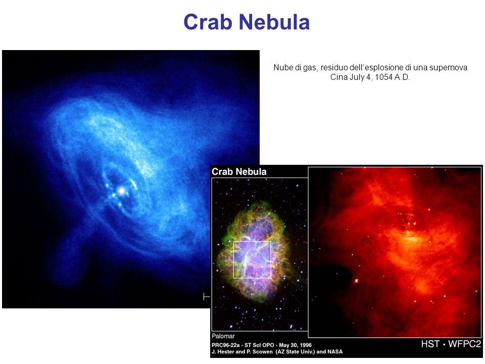 Nube di gas, residuo dellesplosione di una supernova Cina July 4, 1054 A.D. Crab Nebula