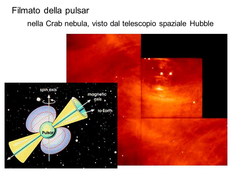 nella Crab nebula, visto dal telescopio spaziale Hubble Filmato della pulsar
