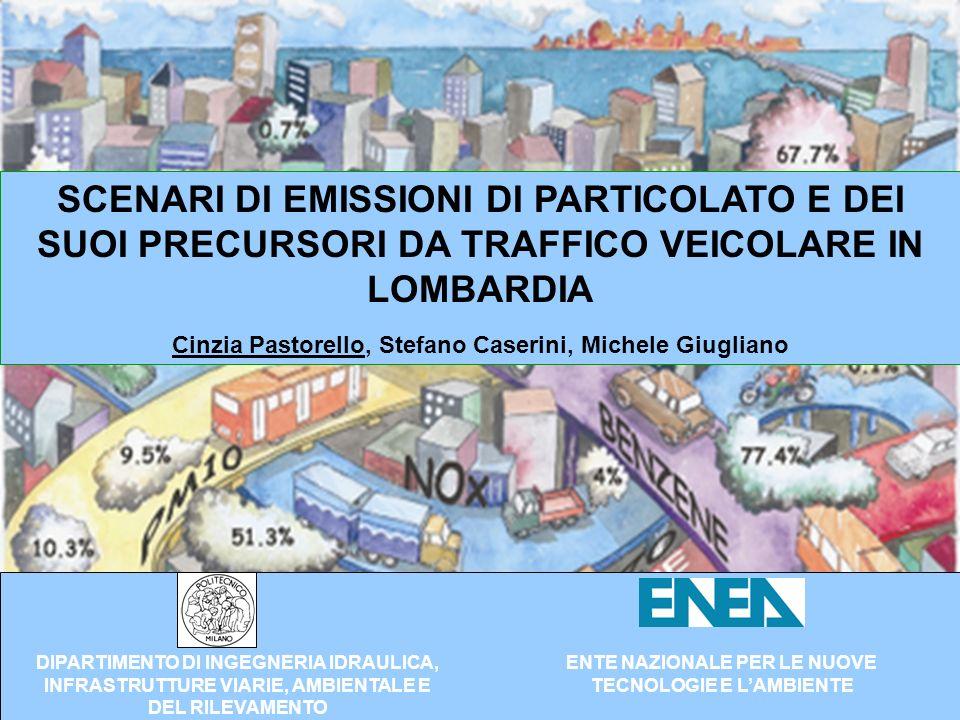 Obiettivi Definizione sperimentale di fattori di emissione di particolato dei nuovi autoveicoli.