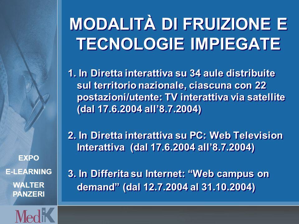 MODALITÀ DI FRUIZIONE E TECNOLOGIE IMPIEGATE 1.