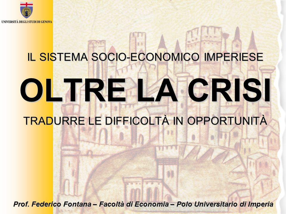 slide 12 / 22 Le infrastrutture [dati 2007; Italia = 100] Fonte: Dati Istituto Tagliacarne Liguria:179 NO:108