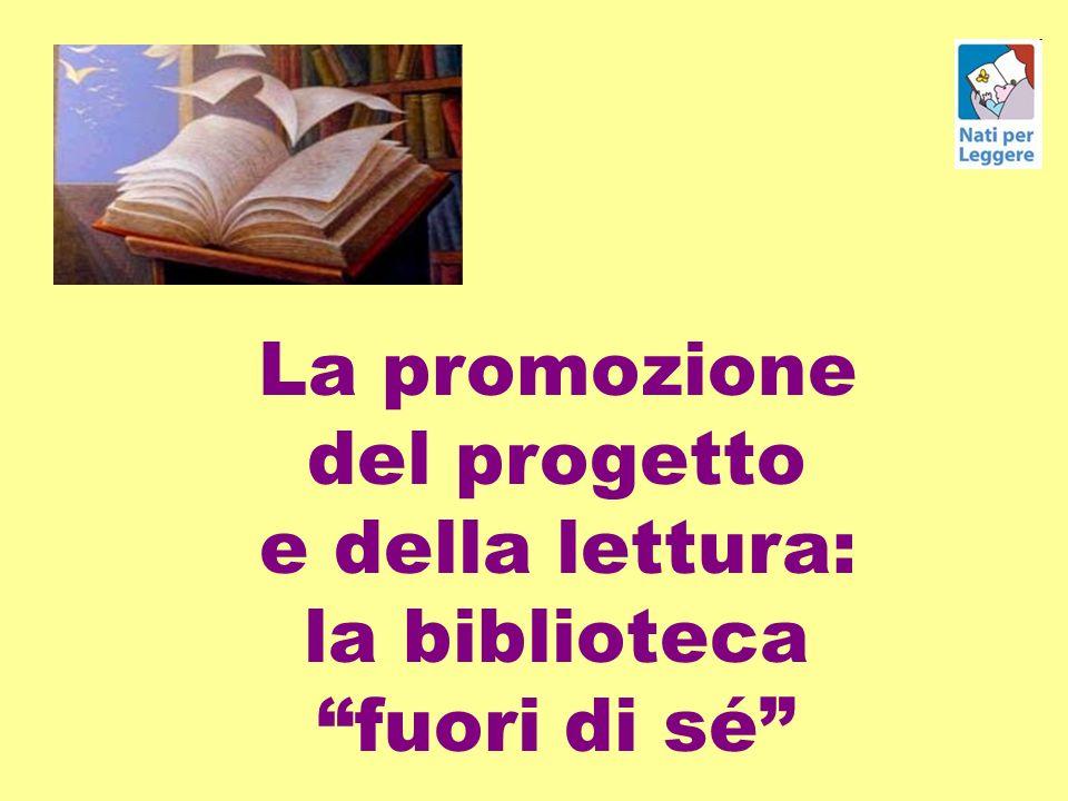 La promozione del progetto e della lettura: la biblioteca fuori di sé