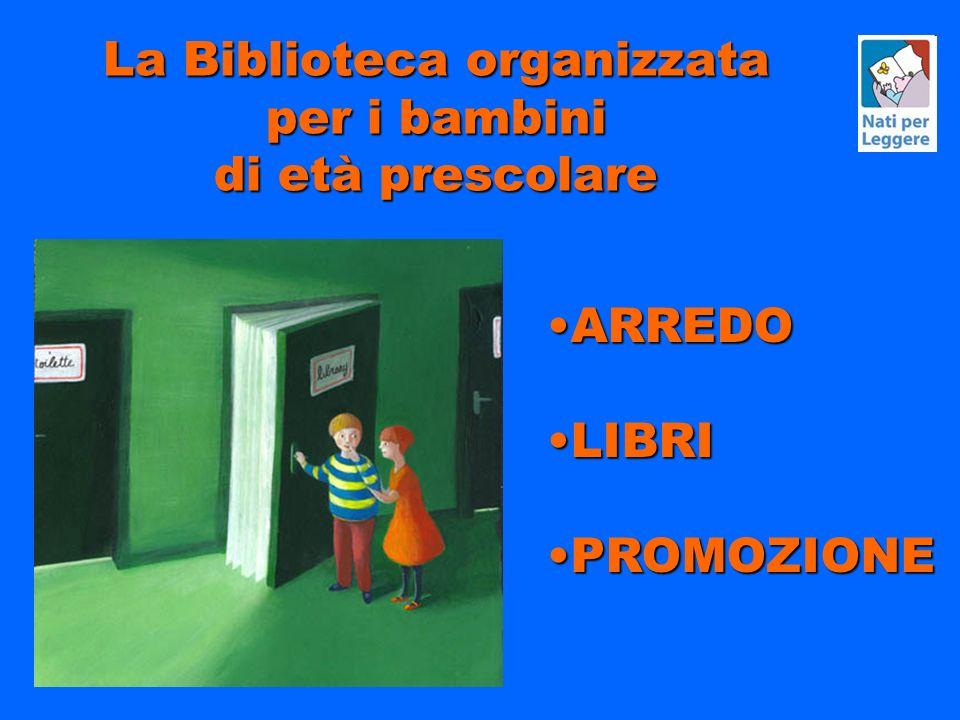 La Biblioteca organizzata per i bambini di età prescolare ARREDOARREDO LIBRILIBRI PROMOZIONEPROMOZIONE