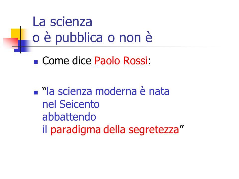 1) Lo scienziato post-accademico deve (saper) comunicare al pubblico dei non esperti