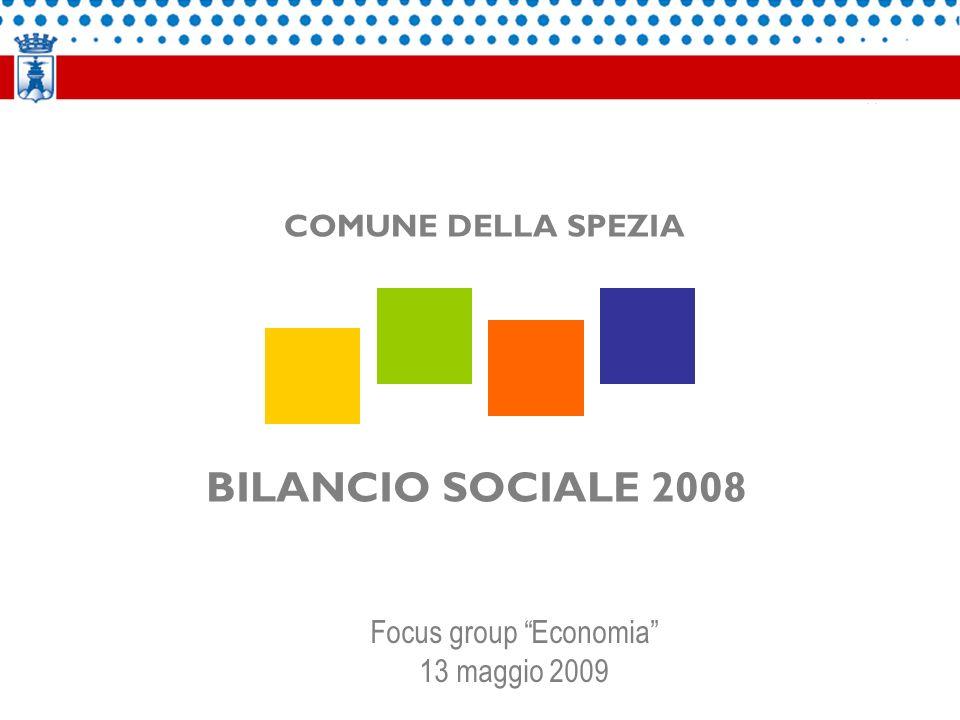 BILANCIO SOCIALE 2008 COMUNE DELLA SPEZIA Focus group Economia 13 maggio 2009