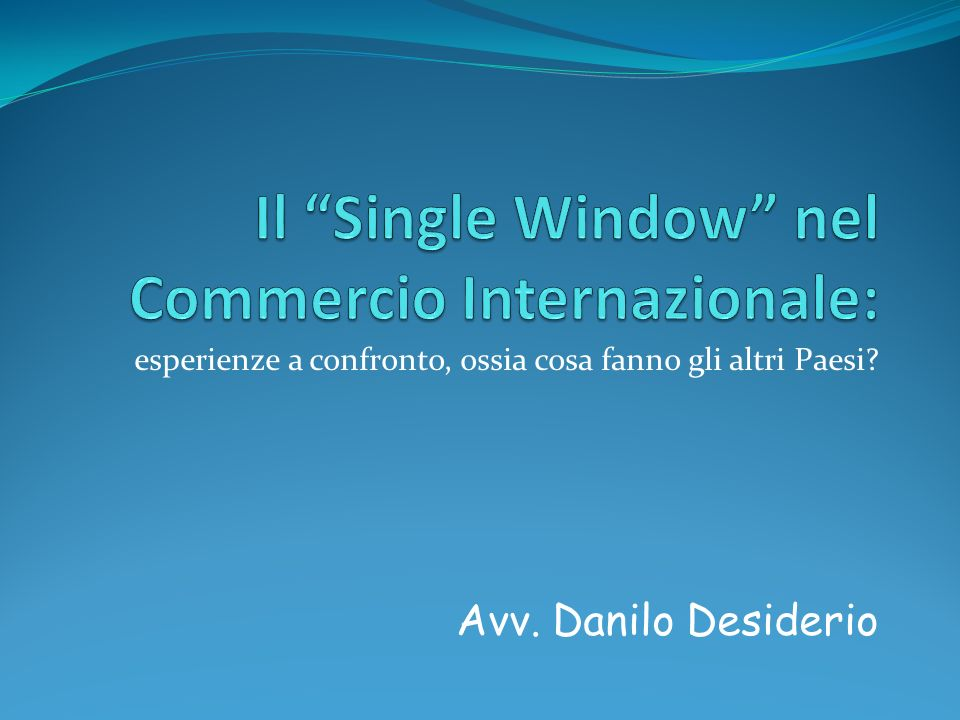 Lapproccio Single Window The essence of the single-window approach is the bringing together of government services, or information about them, in order to reduce the amount of time and effort citizens must expend to find and obtain the services they need (S.
