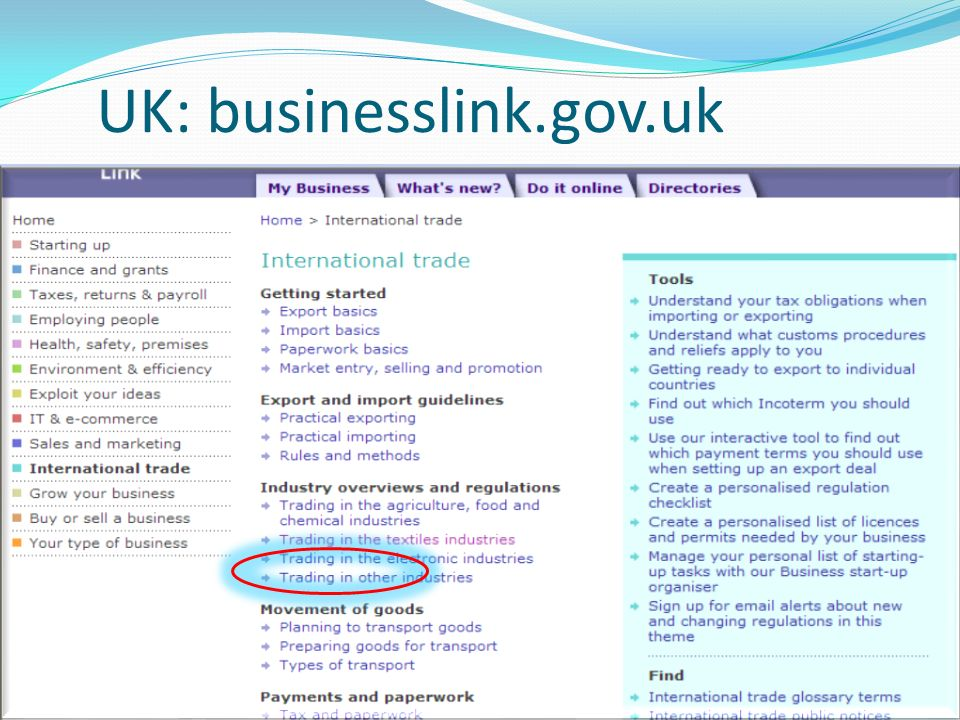 UK: businesslink.gov.uk