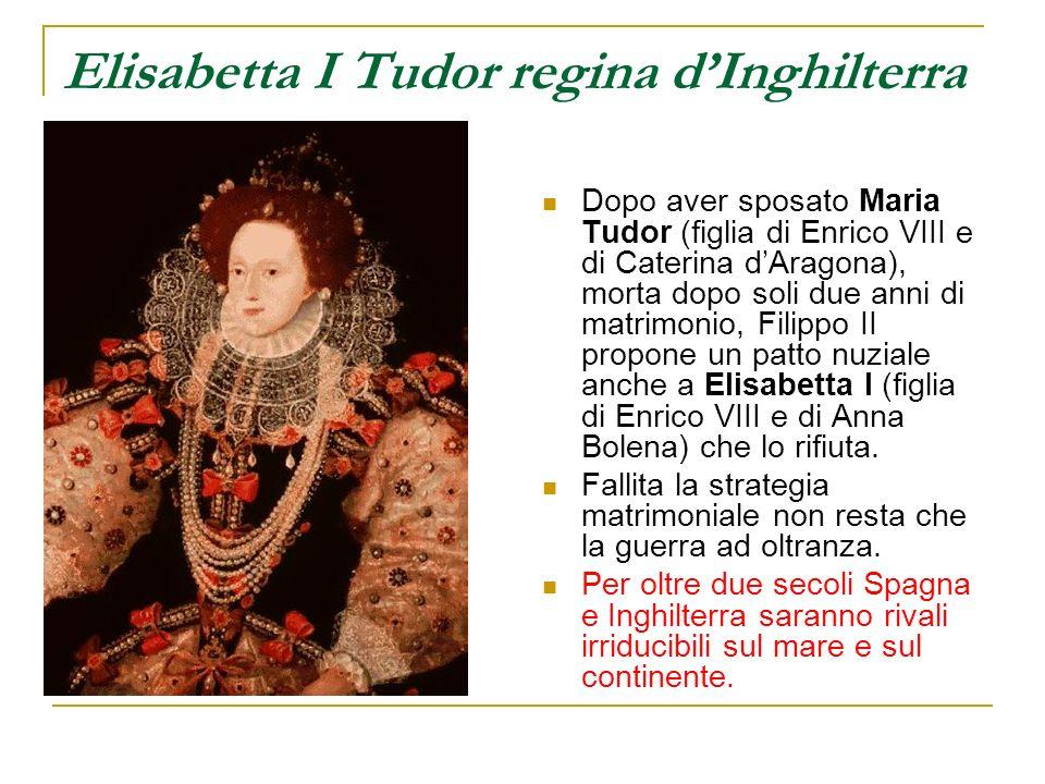 Elisabetta I Tudor regina dInghilterra Dopo aver sposato Maria Tudor (figlia di Enrico VIII e di Caterina dAragona), morta dopo soli due anni di matri