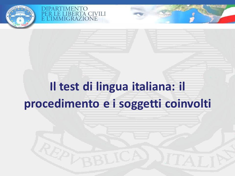 Il test di lingua italiana: il procedimento e i soggetti coinvolti
