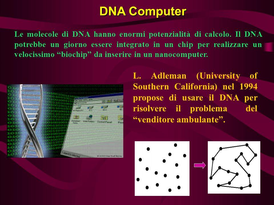 Le molecole di DNA hanno enormi potenzialità di calcolo. Il DNA potrebbe un giorno essere integrato in un chip per realizzare un velocissimo biochip d