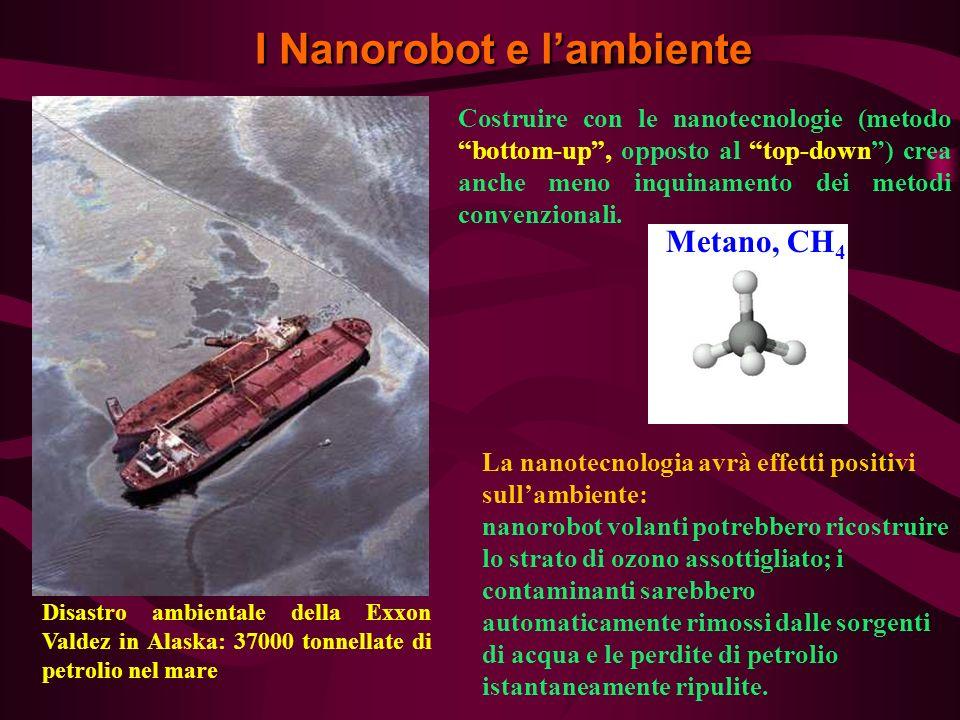 La nanotecnologia avrà effetti positivi sullambiente: nanorobot volanti potrebbero ricostruire lo strato di ozono assottigliato; i contaminanti sarebb