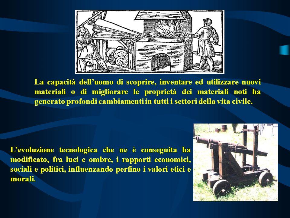 LINTRODUZIONE di NUOVI MATERIALI dalla PREISTORIA ad OGGI ETA della PIETRA 9000 a.c.
