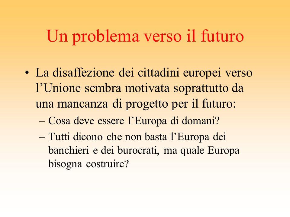 Un problema A dispetto delle belle affermazioni contenute nella Costituzione, i popoli europei sembrano non aver dato molta importanza alla consultazi