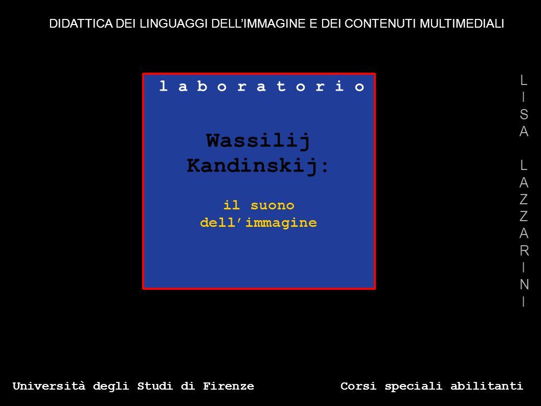 l a b o r a t o r i o Wassilij Kandinskij: il suono dellimmagine Università degli Studi di Firenze Corsi speciali abilitanti LISALAZZARINILISALAZZARIN