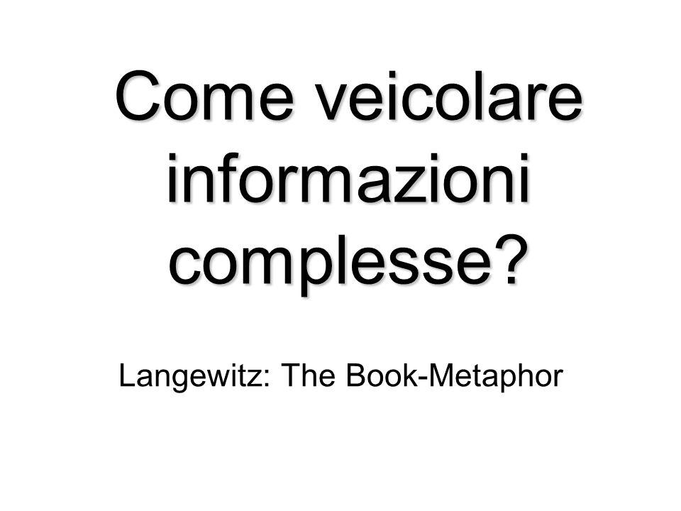 Come veicolare informazioni complesse? Langewitz: The Book-Metaphor