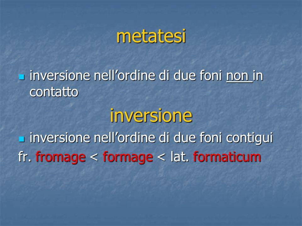 metatesi inversione nellordine di due foni non in contatto inversione nellordine di due foni non in contattoinversione inversione nellordine di due fo