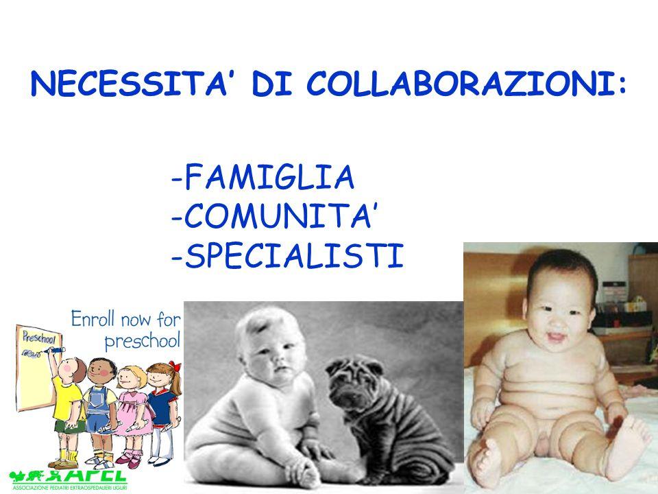www.apel-pediatri.it NECESSITA DI COLLABORAZIONI: -FAMIGLIA -COMUNITA -SPECIALISTI
