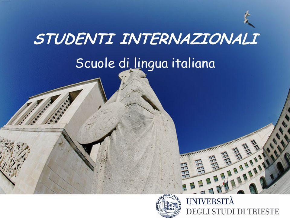 Studiare allUniversità STUDENTI INTERNAZIONALI Scuole di lingua italiana