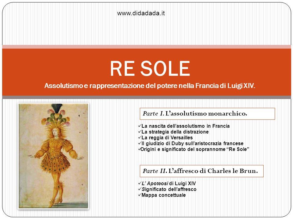 RE SOLE Assolutismo e rappresentazione del potere nella Francia di Luigi XIV. La nascita dellassolutismo in Francia La strategia della distrazione La