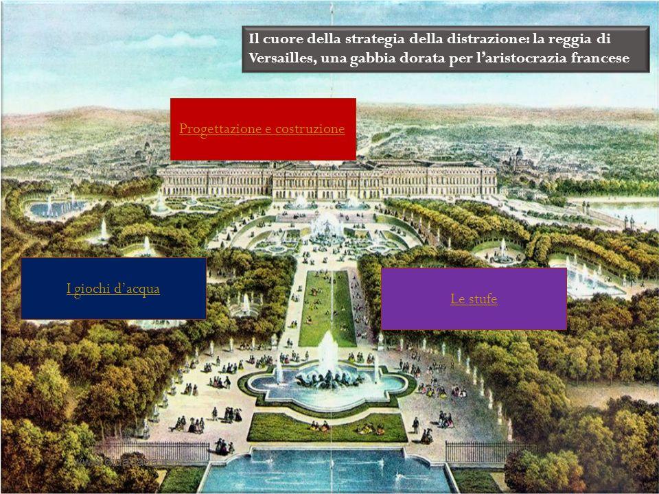 Il cuore della strategia della distrazione: la reggia di Versailles, una gabbia dorata per laristocrazia francese Progettazione e costruzione Le stufe