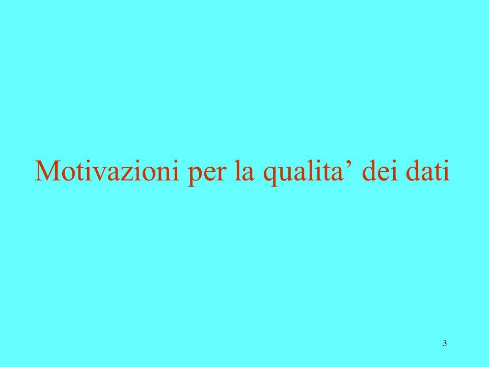 3 Motivazioni per la qualita dei dati