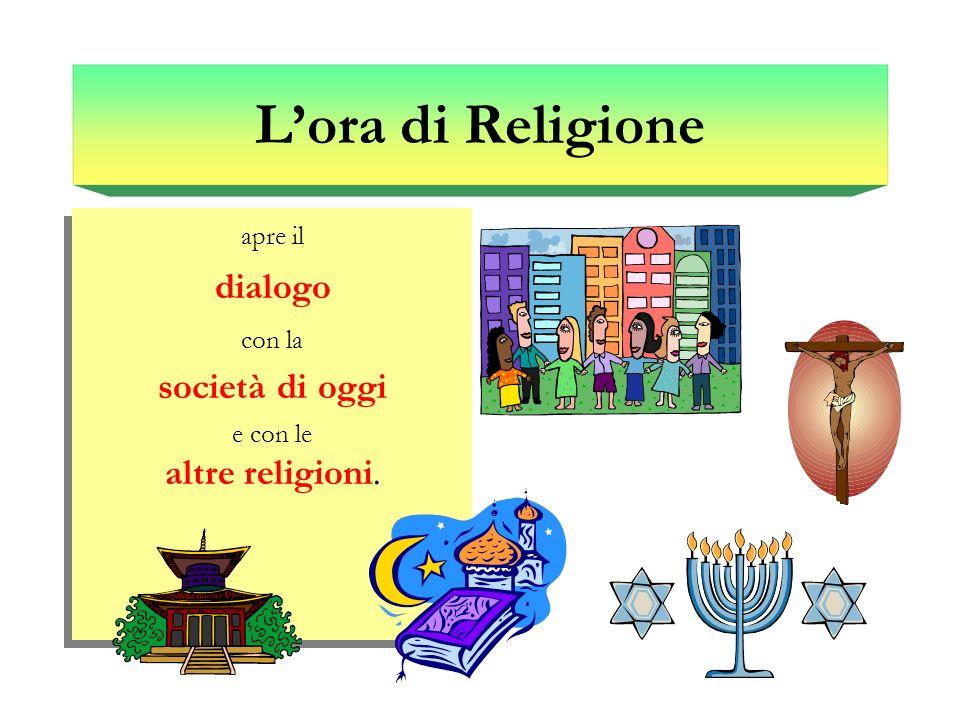 apre il dialogo con la società di oggi e con le altre religioni. apre il dialogo con la società di oggi e con le altre religioni. Lora di Religione