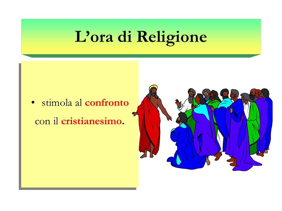 Lora di Religione stimola al confronto con il cristianesimo. stimola al confronto con il cristianesimo.